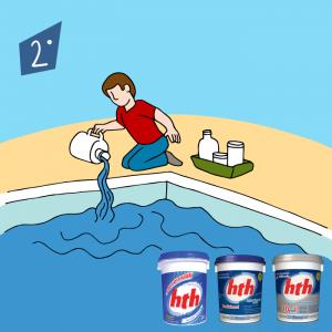 cloro para piscina hth