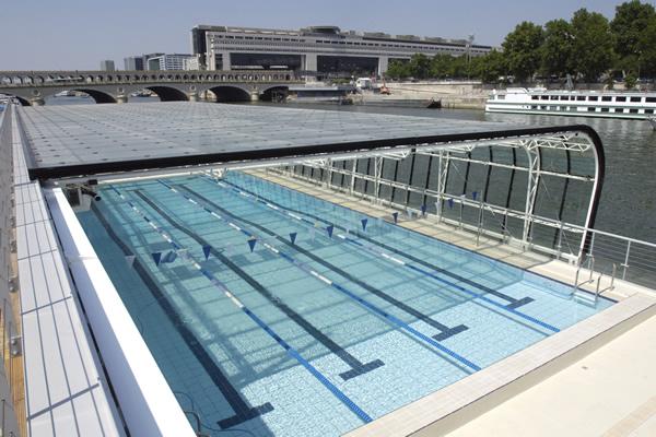 piscina flutuante