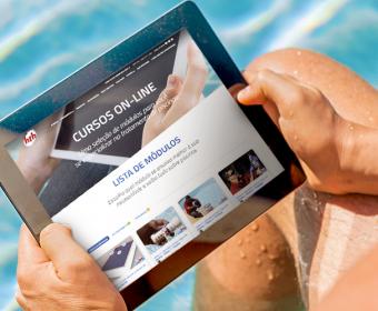HTH oferece curso de limpeza de piscina online gratuito